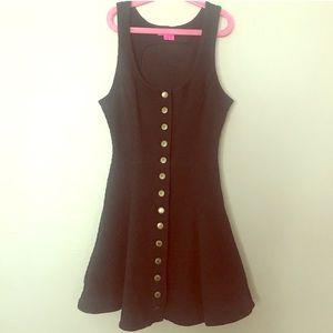 Betsey Johnson cute peplum button down dress